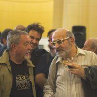 El montajista Hugo Primero junto al laboratorista Andres Suarez Blaiotta