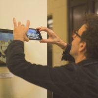 El director del Museo del Cine Lumiton Adriano Bruzzese