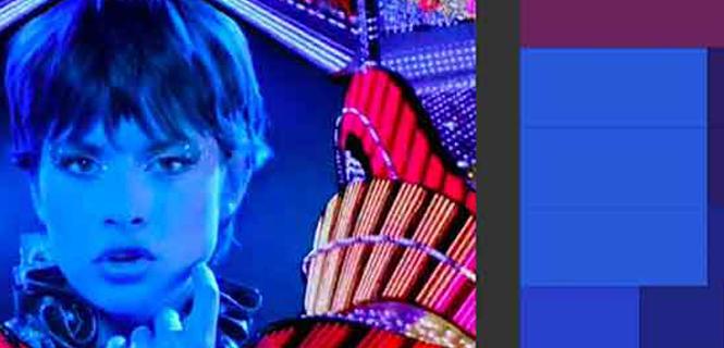 """Paletas de colores VIAN de la película """"One from the Heart"""" (EE.UU. 1981, Francis Ford Coppola) (Imagen: UZH)"""