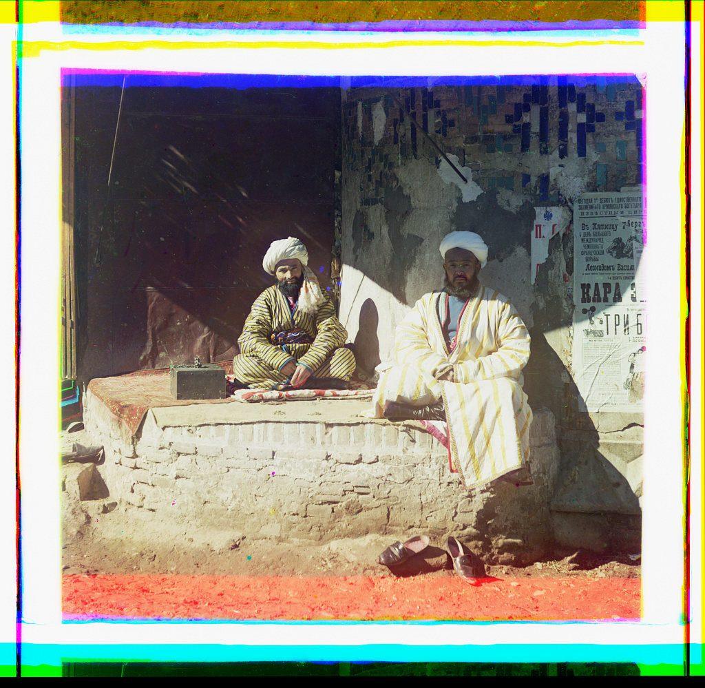 Un comerciante en el Registan, Samarcanda. COLECCIÓN DE FOTOGRAFÍAS PROKUDIN-GORSKIĬ, BIBLIOTECA DEL CONGRESO, DIVISIÓN DE GRABADOS Y FOTOGRAFÍAS